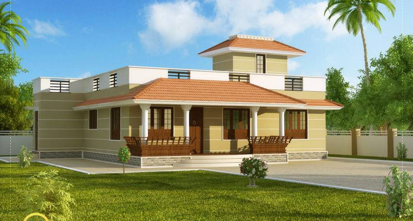 Single Story Kerala Model House Without Car Porch