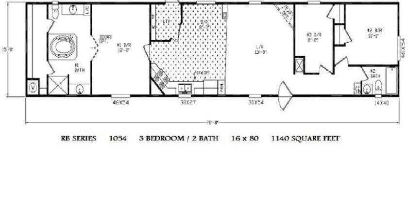 Single Wide Mobile Home Floor Plans Bedroom Bath House