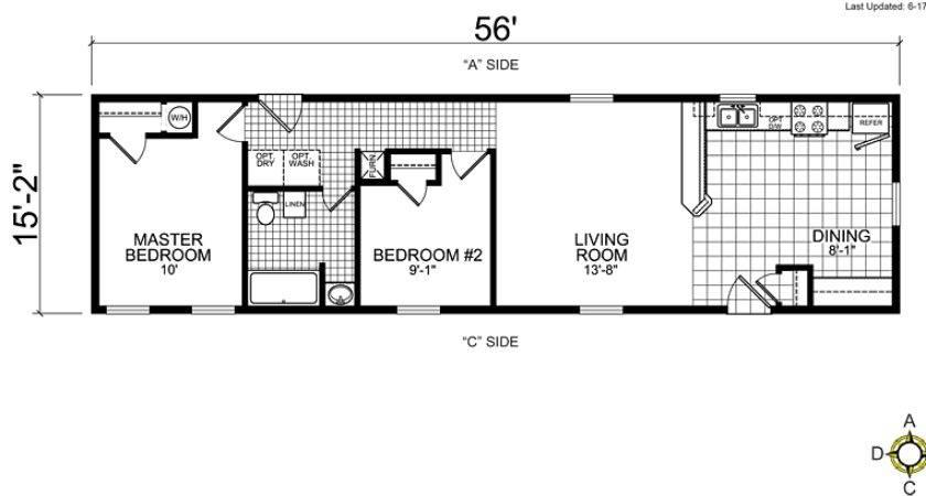 Single Wide Mobile Home Floor Plans Bestofhouse