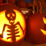 Skeleton Cartoon Halloween Pumpkin Mgt Design