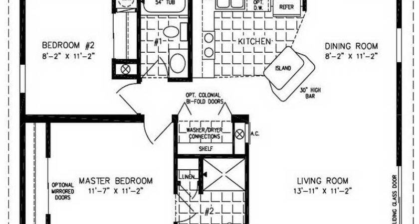 Small Double Wide Mobile Home Floor Plans