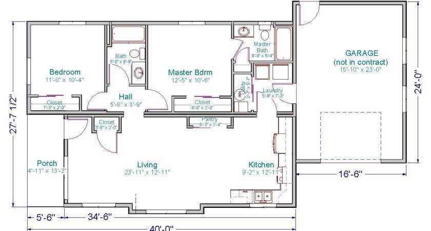 Small Ranch House Floor Plans Bedroom