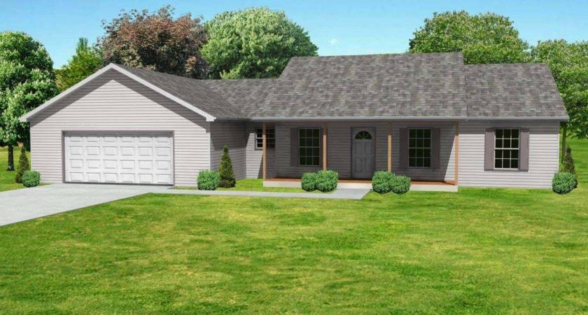 Small Ranch House Plan Floorplan Single