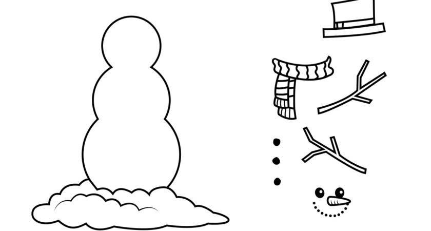 Snowman Printable Clipart