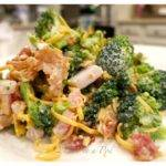 Southern Broccoli Salad Smokey Bacon Tangy Vinegar Red