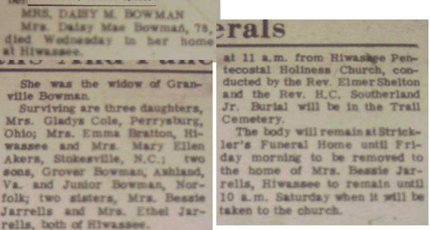 Southwest Times Newspaper Obituaries