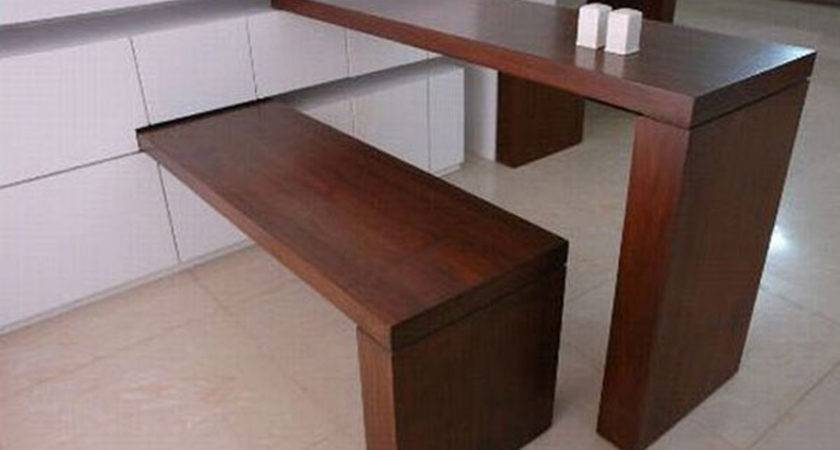 Space Saving Wooden Furniture Design Small Dining Room Decoration