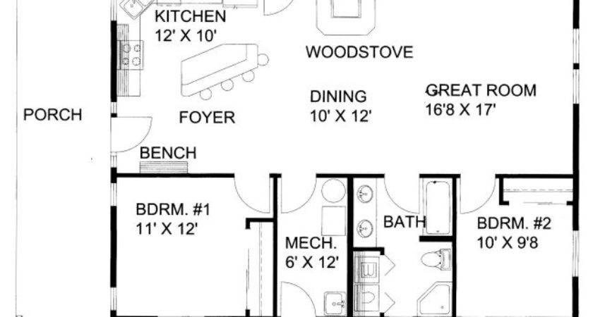 Square Foot One Story Floor Plan Feet