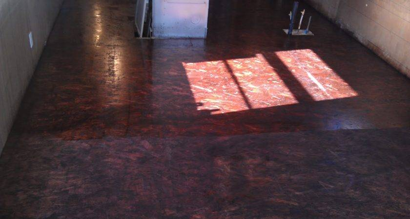 Stained Osb Floor