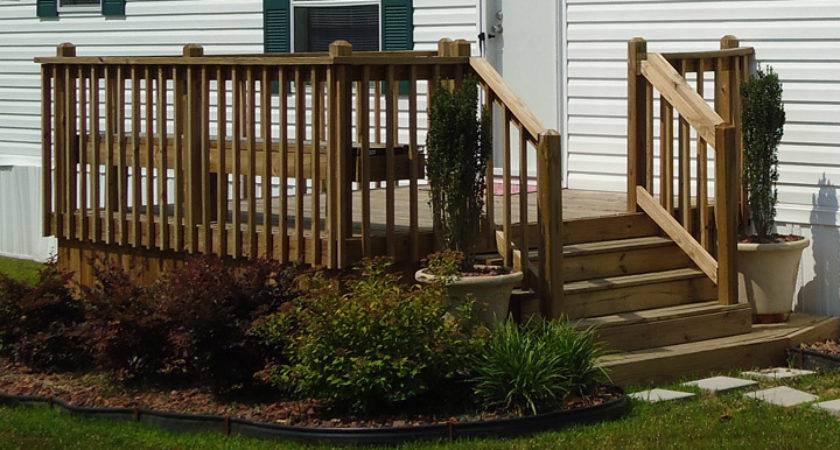 Steps Mobile Homes Wood Ideas