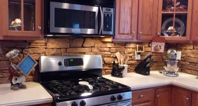 Stone Backsplash Ideas Decorating Kitchen