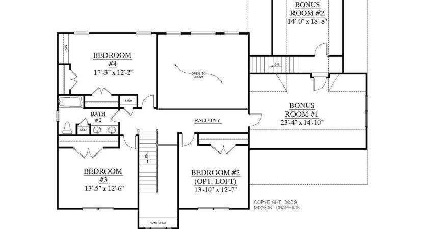 Story Bedroom House Plans Bonus Room