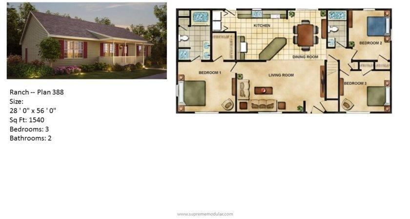 Supreme Modular Homes Home Ranch Plans