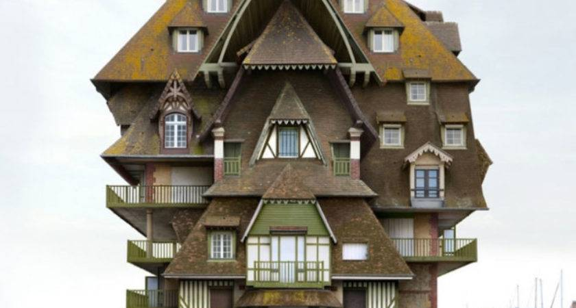 Surreal Weird Houses Designs Using Montage
