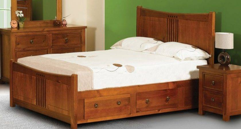 Sweet Dreams Curlew Wild Cherry King Wooden Bed