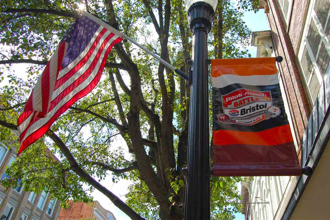Tennessee Volunteer Flags Now Flying Along State Street Bristol