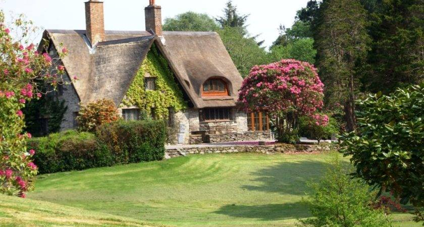 Thatched Roofed Irish Cottage House Crazy