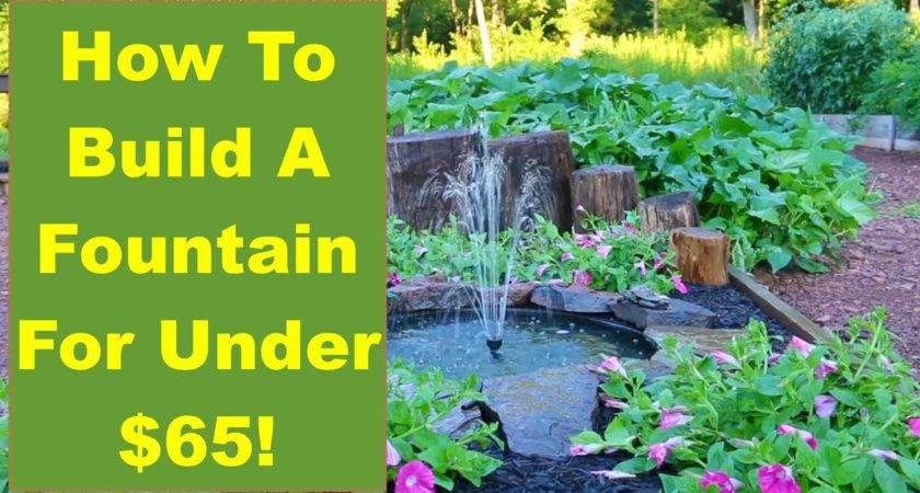 Tips Ideas Build Backyard Fountain