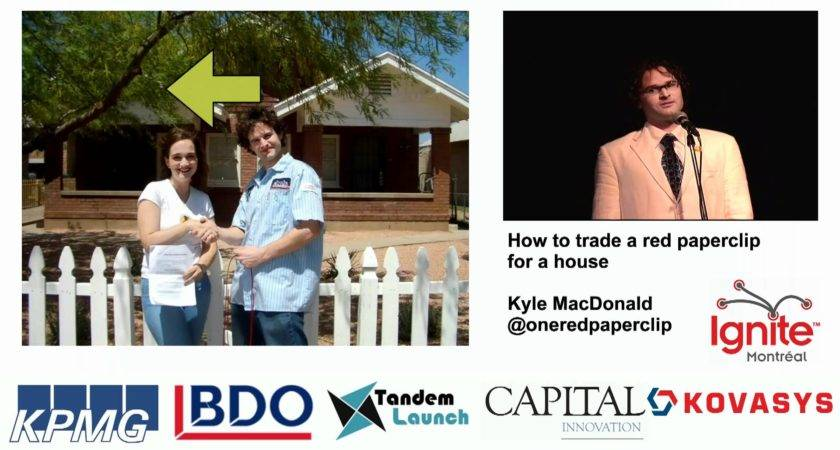 Trade Red Paperclip House Youtube