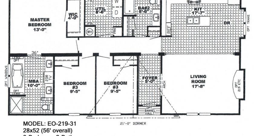 Triple Wide Mobile Home Floor Plans Single Homes