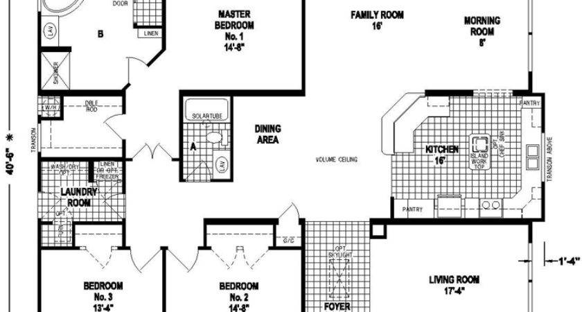 Triple Wide Mobile Home Plans Homes Floor