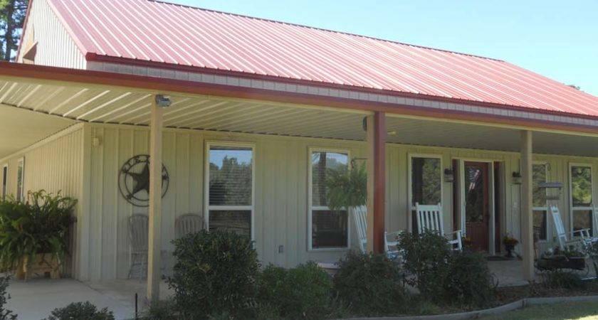 Unique Metal Building Home Wrap Around Porch