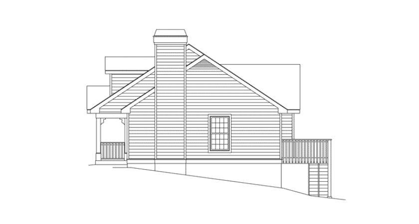 Vacation House Plan Right Elevation Plans More