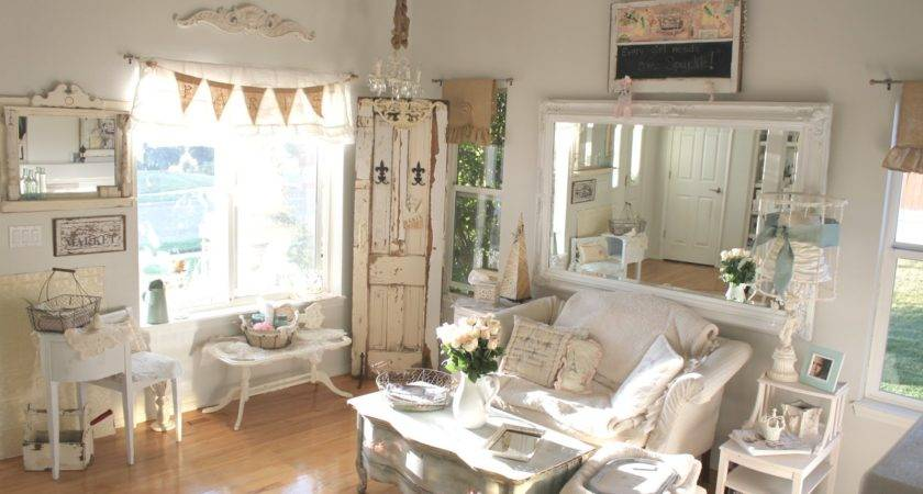 Vintage Sparkle Chic Newly Painted Sitting Room