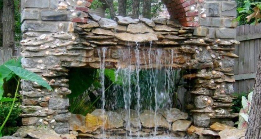 Water Fountain Landscape Ideas Backyard Design