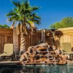 Waterfall Gunite Pool Custom Builder Midland Texas