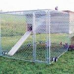 Wheel Chain Link Movable Coop Steve Bachochin East Liberty