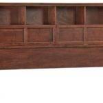 Whittier Wood Mckenzie Bookcase Headboard Glazed Antique Cherry