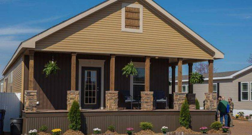 Wide Manufactured Home Covered Porch Idea Mobile