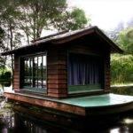 Wonderful Floating Raft Cabin Built Stephen Burgess