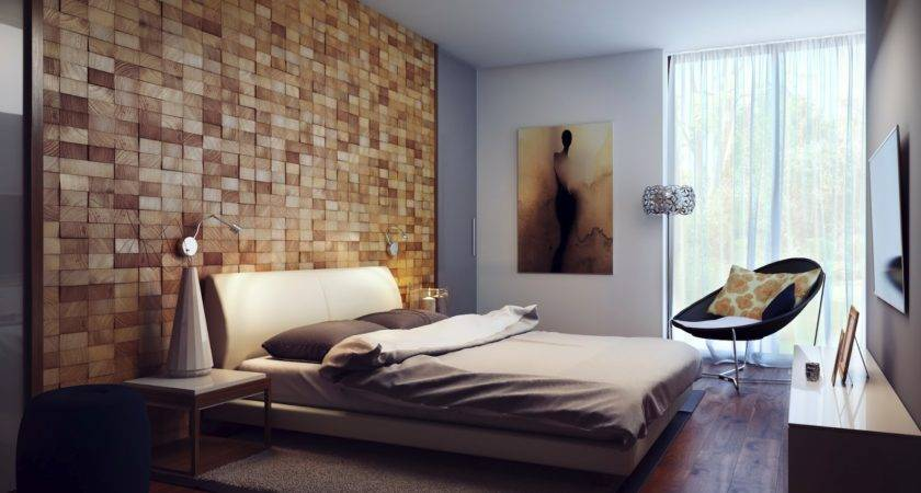Wood Block Headboard Walljpeg Design Note Contemporary